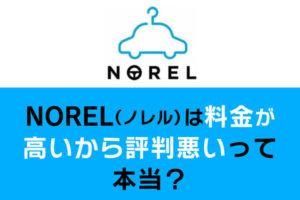 NOREL(ノレル)は料金が高いから評判悪いって本当?